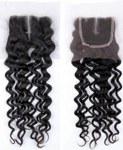 Virgin Hair Lace Closure Island Curl